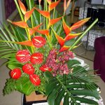 Fresh tropical church arrangement