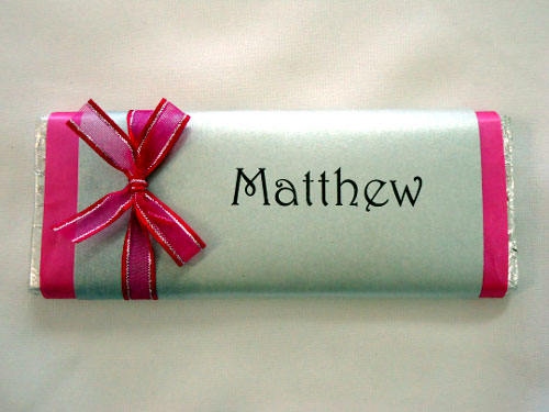 Personalised Place Card Chocolate Bars