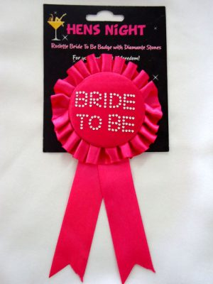 Hot Pink Bride To Be Badge