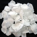 Silk white rose petals