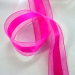 Hot Pink Ribbon Satin & Organza