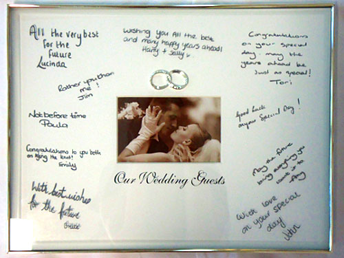 our wedding signature frame one stop wedding shop our wedding signature frame