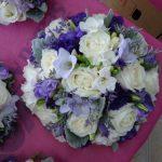 purple&whitebouquets