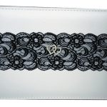 black chantilly lace guest book