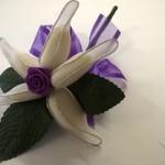 purple almond flower