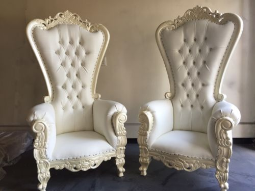 Bride amp Groom Throne Chairs One Stop Wedding Shop