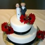 2 Tier Cake with Fresh Gerberas