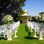 Classic outdoor wedding ceremony setting