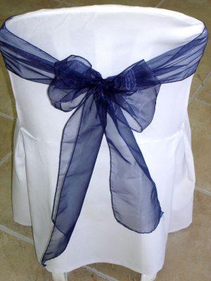 Navy organza sash