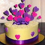 White Chocolate Heart Cake