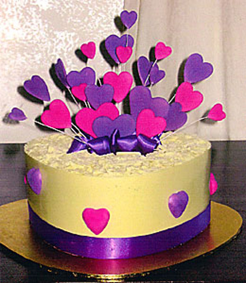 White Chocolate Heart Cake