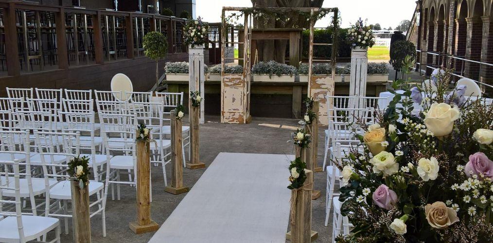 Wedding Ceremony Rustic Decor